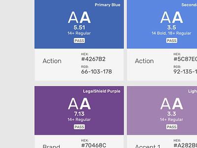 Color Usage design system ally color design system