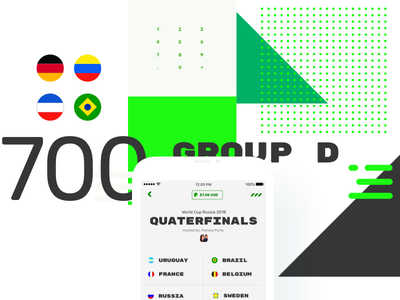 World Cup Bets invision studio bets apuestas mobileapp worldcup typography visual exploration