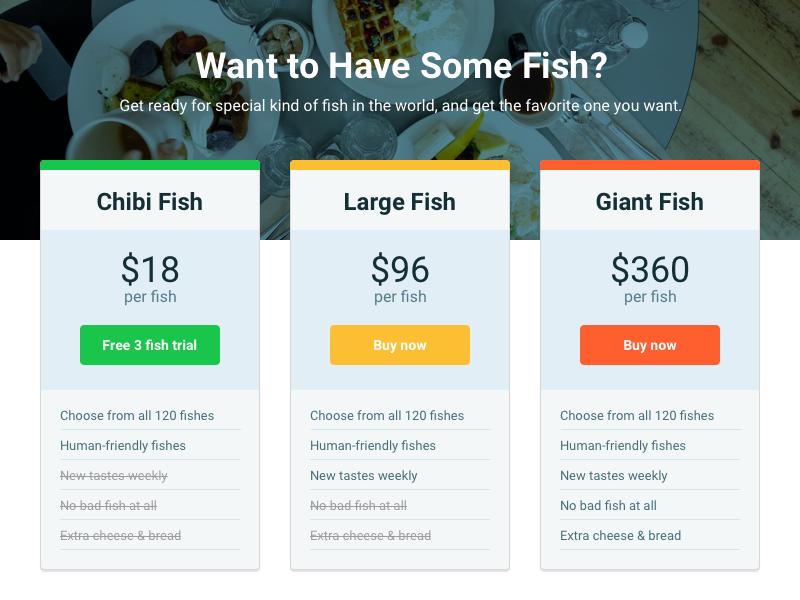 Fish Price UI menu price fish ui