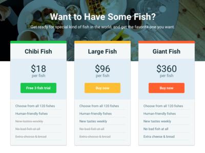 Fish Price UI