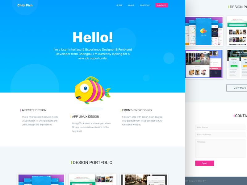 Single Page Portfolio web single page portfolio