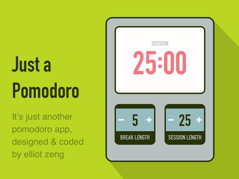 A Pomodoro App pomodoro
