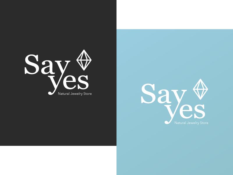 SayYes Jewelry Store Logo jewelry logo