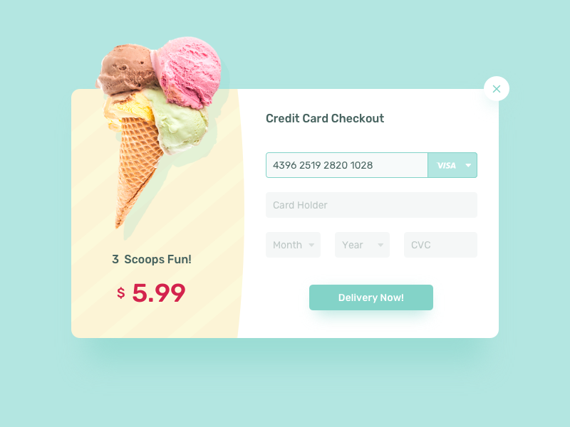 02 Credit Card Checkout daily ui checkout card credit