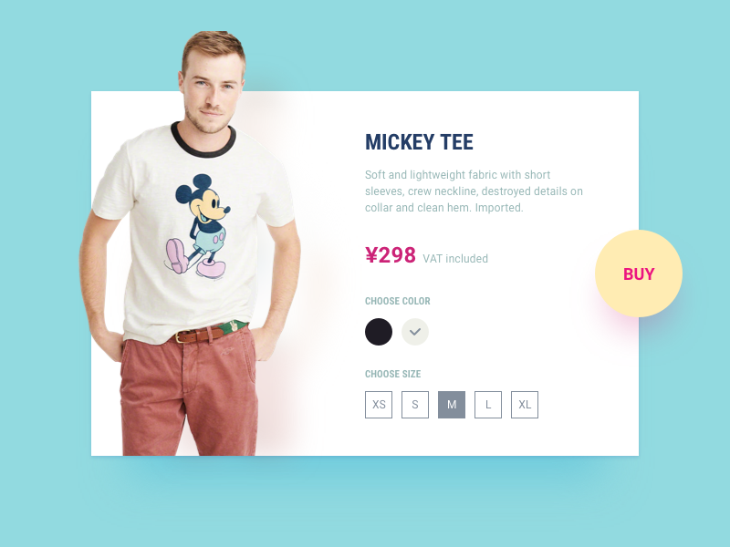 12 Single Product store tee mickey sell product shop