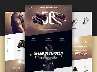 Nike SB50 Concept webdesign nike e-commerce traffic