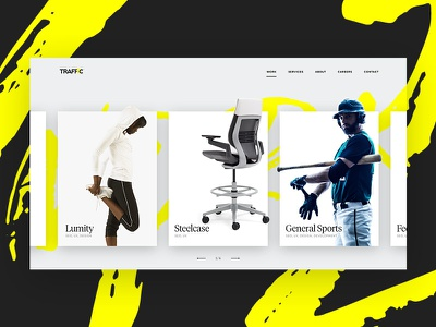 TRAFFIC Redesign Concept webdesign traffic