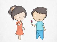 Love Is flirtatious