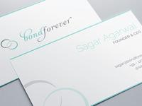 Bond forever - biz card