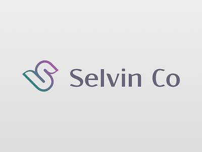 Selvin Co logo gradient stylized dba