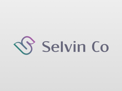 Selvin Co logo gradient stylized dba