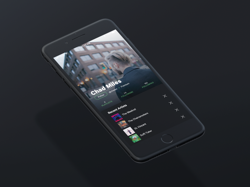 Re:D Spotify´s Profile music app spotify profile caly ios ui ux