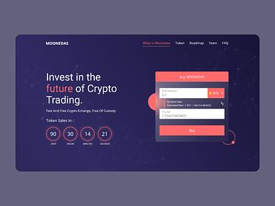 Cryptocurrency Landing Page design website webdesign landingpage bitcoin cryptocurrency crypto ux uiux ui graphic design