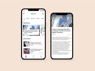 News Reading App ui design reading mobile application android ux uiux iphone minimalistic minimal news app appdesign mobileapp news graphic design ui