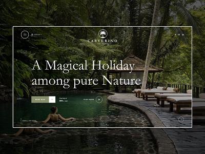 Resort Landing Page tropical nature holiday clean design travel hotel booking web dark landingpage ladning page resort