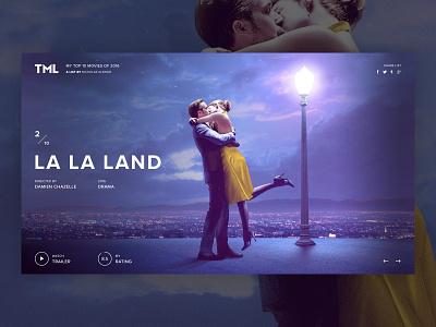 Personal Movie Project [ PREVIEW B] app fullscreen colorfull website project web la la land movie film