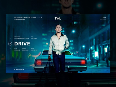 Personal Movie Project [PREVIEW C] gosling app fullscreen colorfull website project web drive movie film