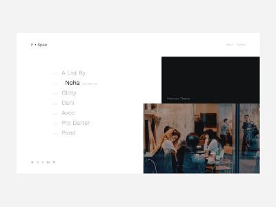 Personal Portfolio [White] modern minimal clean light portfolio