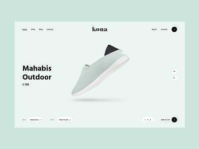 Kona Shop concept theme commerce shoe minimal clean ecommerce shop
