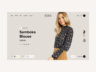 Kona Shop - Single Product gallery brown women wordpress theme commerce minimal clean ecommerce shop