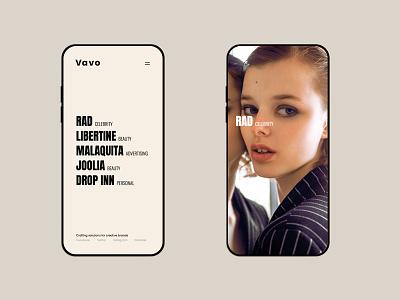 Vavo Mobile photography typogaphy bold theme minimal design wordpress light portfolio clean web