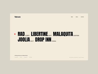 Vavo - Interactive Portfolio Animation photography bold animation wordpress light portfolio theme clean minimal web