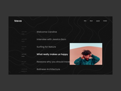 Vavo Journal - minimal blog experience clean theme design wordpress dark journal blog minimal web