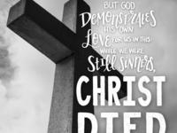 Bible Lettering - Romans 5:8
