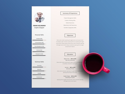 Free Clear Resume Template