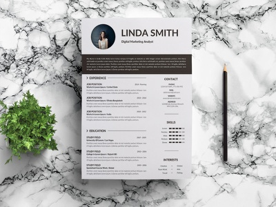 Free Digital Marketing Analyst Resume Template resume design cv template design free resume resume cv free cv template freebie freebies resume free resume template