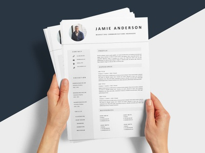Free Marketing Communications Manager Resume Template resume template resume design cv template design free resume resume cv free cv template freebie free resume template resume freebies