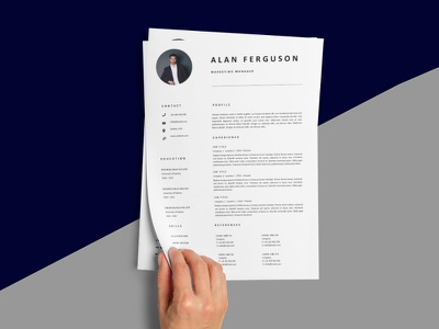 Free Marketing Manager Resume Template resume template cv template design free resume resume cv resume design free cv template freebie freebies resume free resume template
