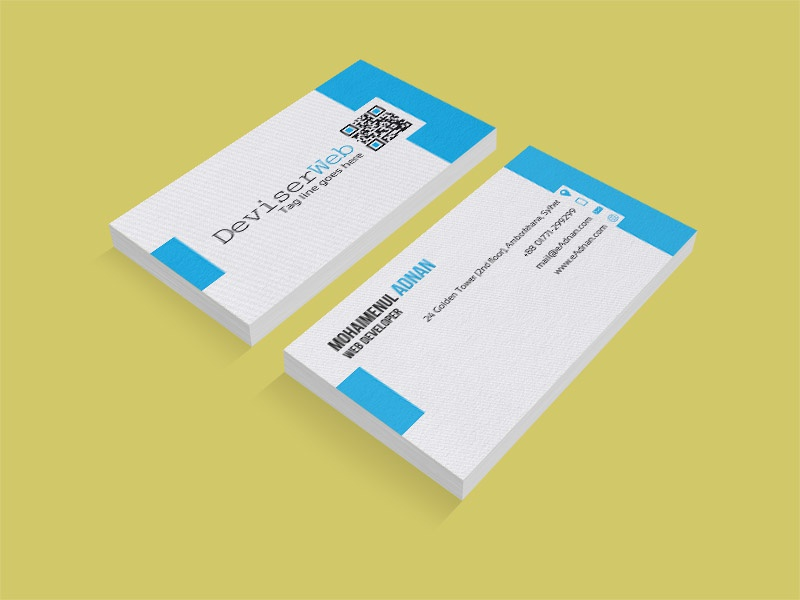 Blue Company Business Card Template By Andy Williams Dribbble
