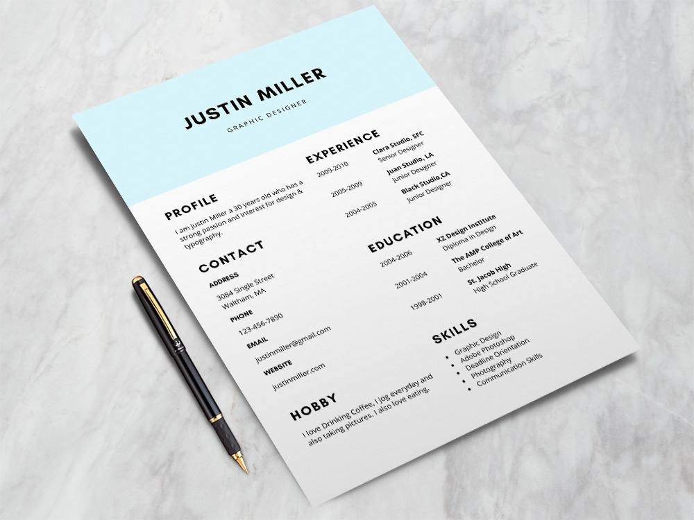 elegant resume template by andy williams dribbble dribbble