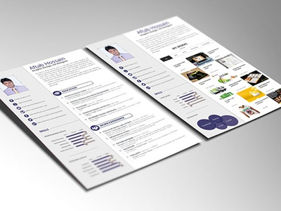 Free Two Pages Resume Template psd resume personal resume two page cv two page resume psd photoshop design free cv template freebies free resume template resume