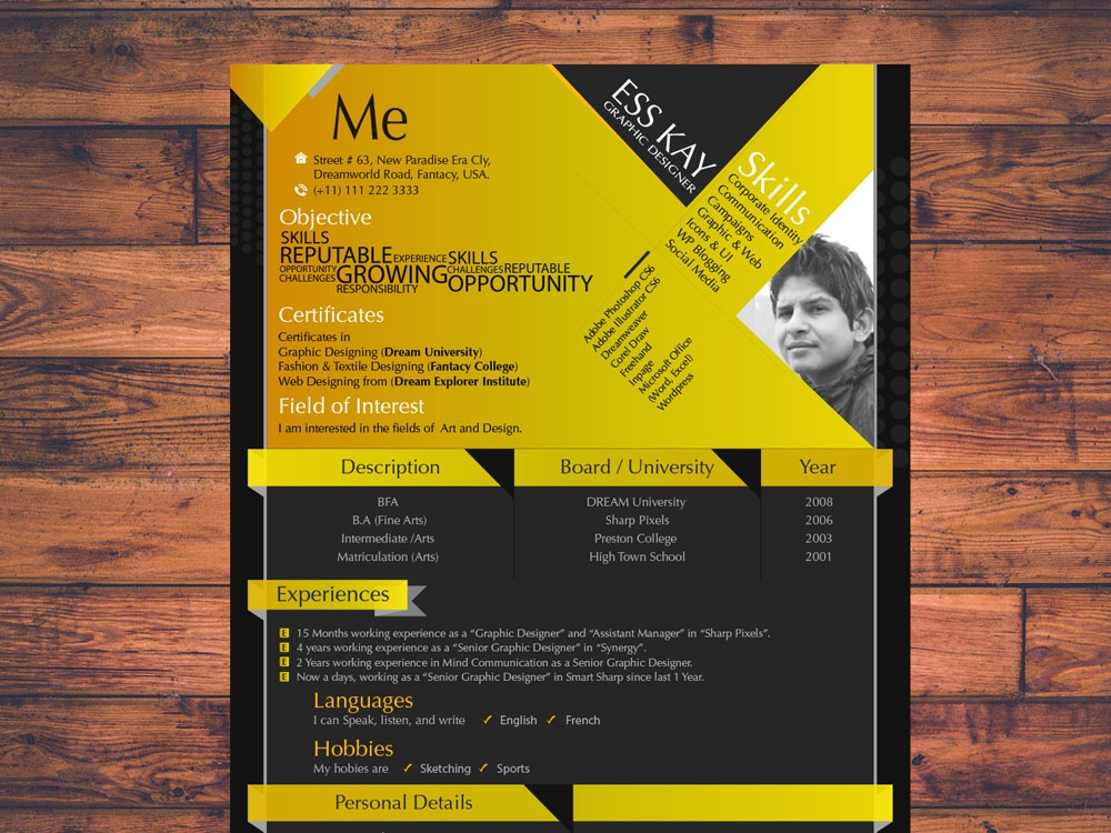 Free Modern Resume Template By Andy Williams On Dribbble