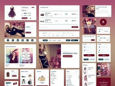Ecommerce Ui Kit designs, themes, templates and downloadable