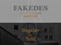 Fakedes Font - Free Rounded & Outline Serif Font