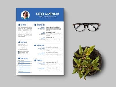Free Simple PSD Resume Template