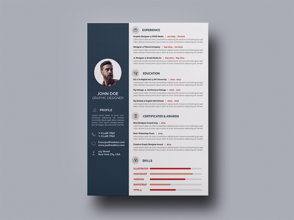 Free Elegant Cv Resume Template By Andy Williams On Dribbble