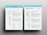 Free Word Resume Template with Matching Cover letter
