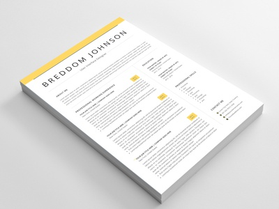 Free Two Pages Resume Template with Cover Letter and Reference