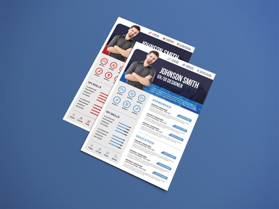 Free Modern PSD Resume Template with for Creative Job