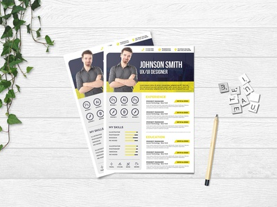 Free Creative Infographic CV/Resume Template