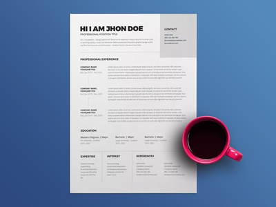Free Hospitality CV/Resume Template