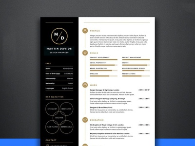 Free Manager CV/Resume Template