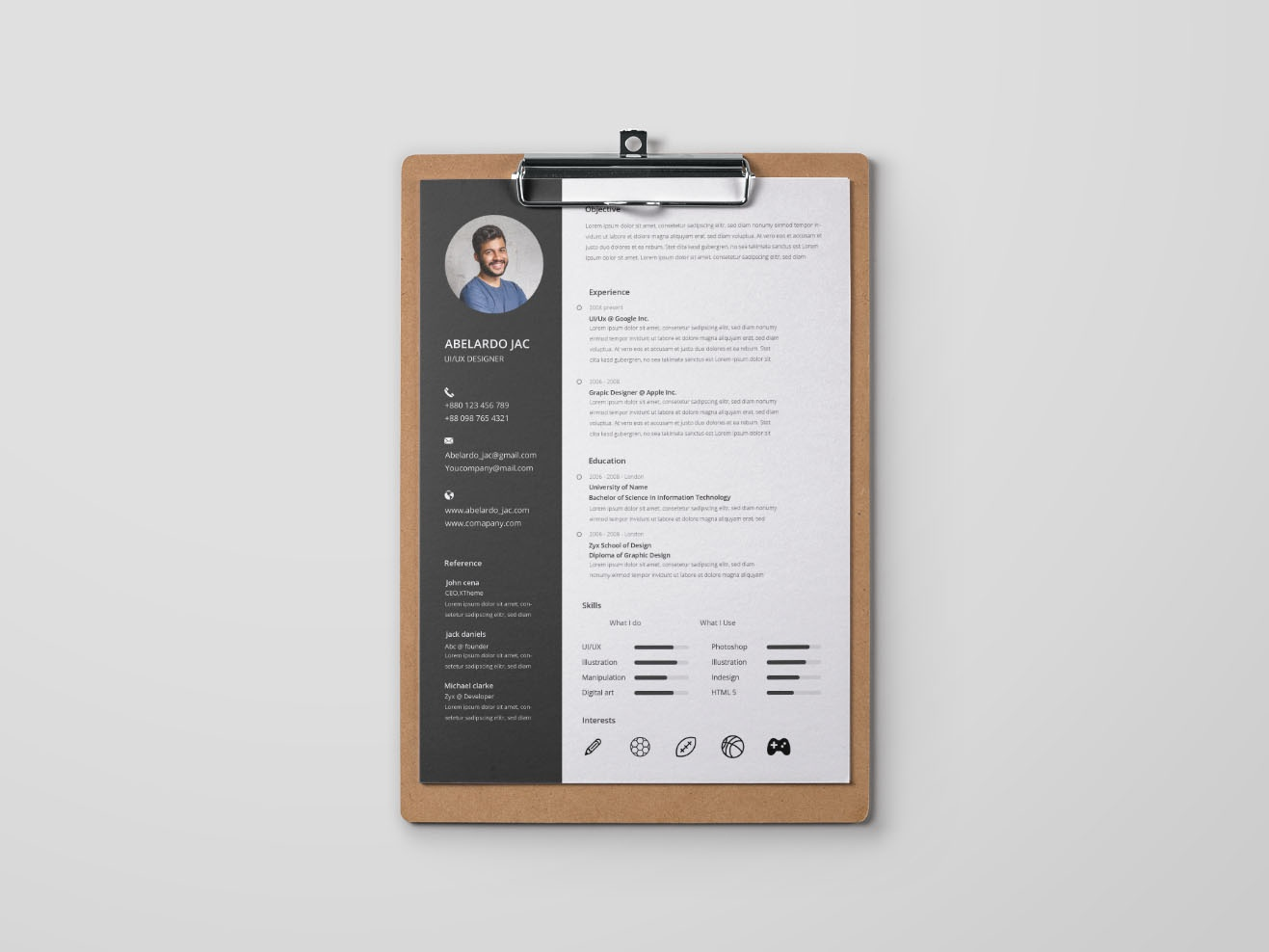 free fresh graduate resume template by andy williams on dribbble
