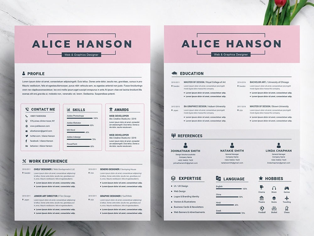 Free Student Resume Template With Matching Cover Letter By