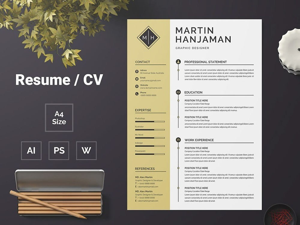Free Student Cv Template By Andy Williams On Dribbble