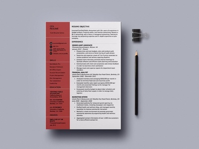 Free Certified Public Accountant (CPA) Resume Template